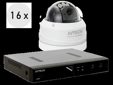 4K recorder + 16 FULL HD camera's met SONY zoomlens