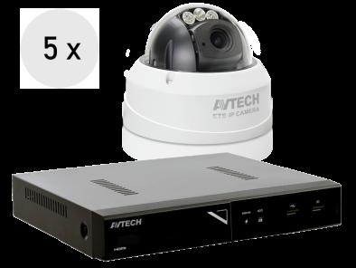 4K recorder + 5 FULL HD camera's met SONY vari-focale lens