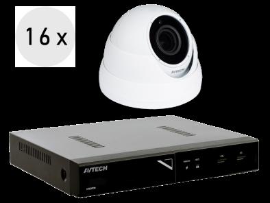 4K recorder + 16 FULL HD camera's met SONY vari-focale lens