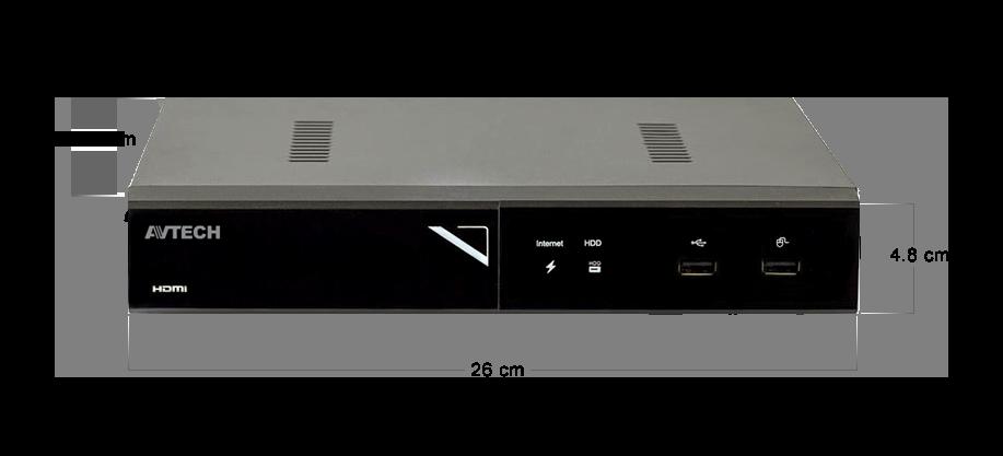 AVtech 4-kanaals NVR AVH1109 afmetingen